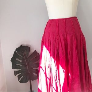 Anthropologie • Red Odille Textured Skirt